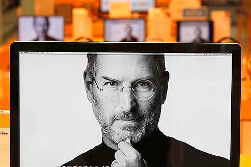 L'écran d'accueil du site d'Apple tel qu'il apparaît sur l'écran d'un ordinateur, jeudi matin à Séoul, en Corée du Sud.