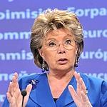 Viviane Reding, vice-présidente de la Commission européenne et commissaire chargée de la Justice.