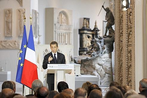 Nicolas Sarkozy a ouvert le colloque sur le Grand Paris, hier, à la Cité de l'architecture et du patrimoine.