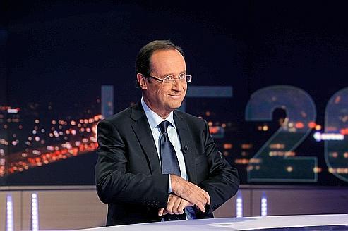François Hollande lundi soir sur la plateau du 20 heures de TF1.
