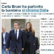 La presse italienne appelle déjà la petite fille Dalia.