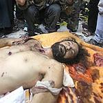 Le cadavre de Moatassem Kadhafi.