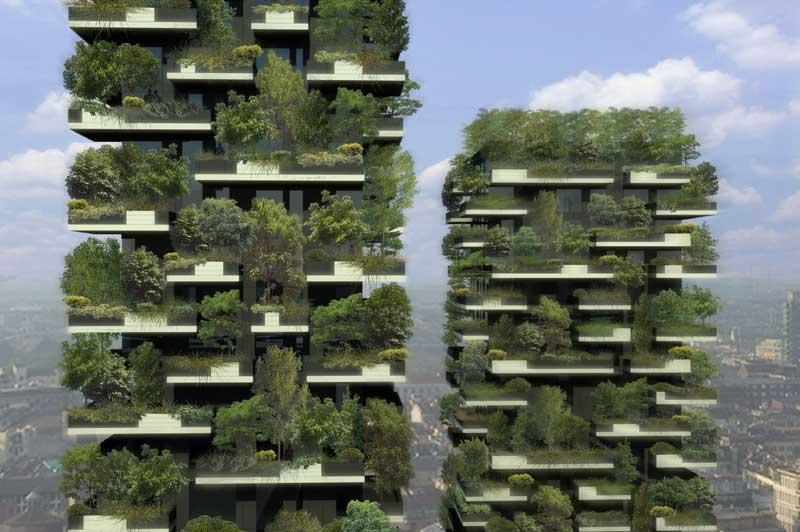 <b>Remarquable</b>. L'écologie se fait audacieuse ! Un cabinet d'architecte italien, Stefano Boeri Architetti, espère fusionner la végétation et l'architecture urbaine. Il s'agit du projet «Bosco Vertical», la première forêt verticale du monde. C'est Milan qui accueillera le premier exemple, sous forme de deux tours d'habitation déjà en construction. Les jumelles, mesurant 110 et 76 mètres ne comporteront pas de murs, et deviendront le refuge pour plus de 900 arbres et arbustes. Ce modèle pourrait servir de «reboisement et de naturalisation» des villes métropolitaines. «La Bosco Verticale est un appareil pour la survie de l'environnement dans des villes européennes contemporaines», explique Stefano Boeri lui-même.