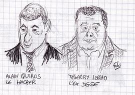 Alain Quiros et Thierry Lorho. Croquis d'audience : Fabrice Nodé-Langlois.