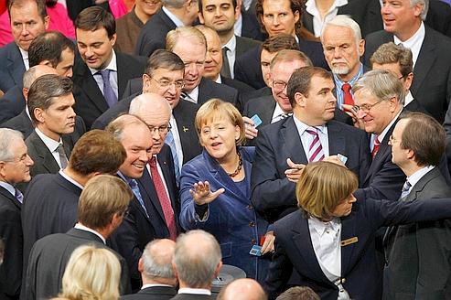 Les Allemands louent les nerfs d'acierd'Angela Merkel