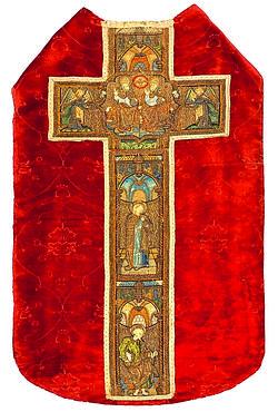 Chasuble de la Trinité, Italie et Flandres. (Alain Rousseau/Albin Michel)