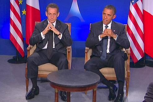 Nicolas Sarkozy et Barack Obama ce vendredi.