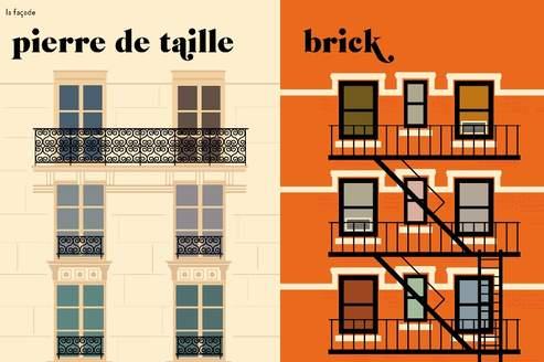 paris versus new york en plus de 200 dessins. Black Bedroom Furniture Sets. Home Design Ideas