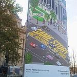 Le panneau de Game Story devant le Grand Palais. Photo Le Figaro.fr/Chloé Woitier