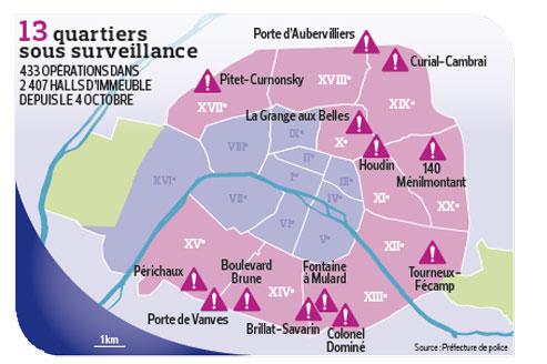 quartiers dangereux paris