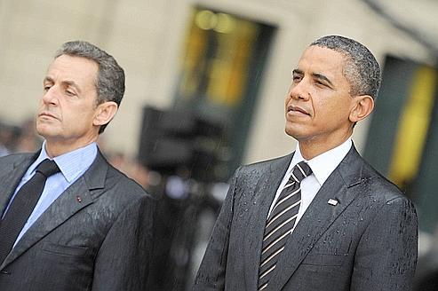 Nicolas Sarkozy et Barack Obama à la fin du G20 de Cannes, le 4 novembre.