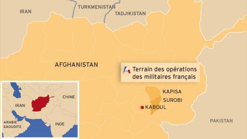 Les soldats français sont engagés dans les provinces de Surobi et de la Kapisa, au nord-est de Kaboul.