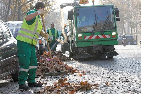 À Paris, les feuilles mortes ne sont pas recyclées