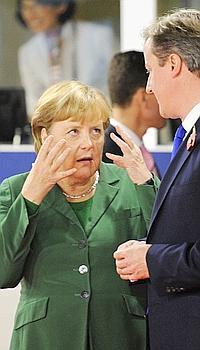 Angela Merkel et David Cameron le 3 novembre dernier, à Cannes, lors du sommet du G20.