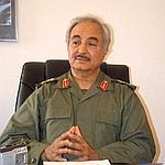 Le général Khalifa Haftar, à Benghazi, en avril dernier.