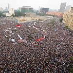 La place Tahrir, où ont afflué plus de 50.000 manifestants