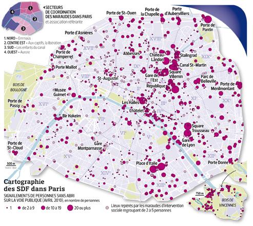 Paris compte 5000 sans abri concentr s au nord et l 39 est for Acheter chambre de bonne a paris