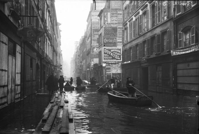 1910, grande crue à Paris, la journée du 26 janvier