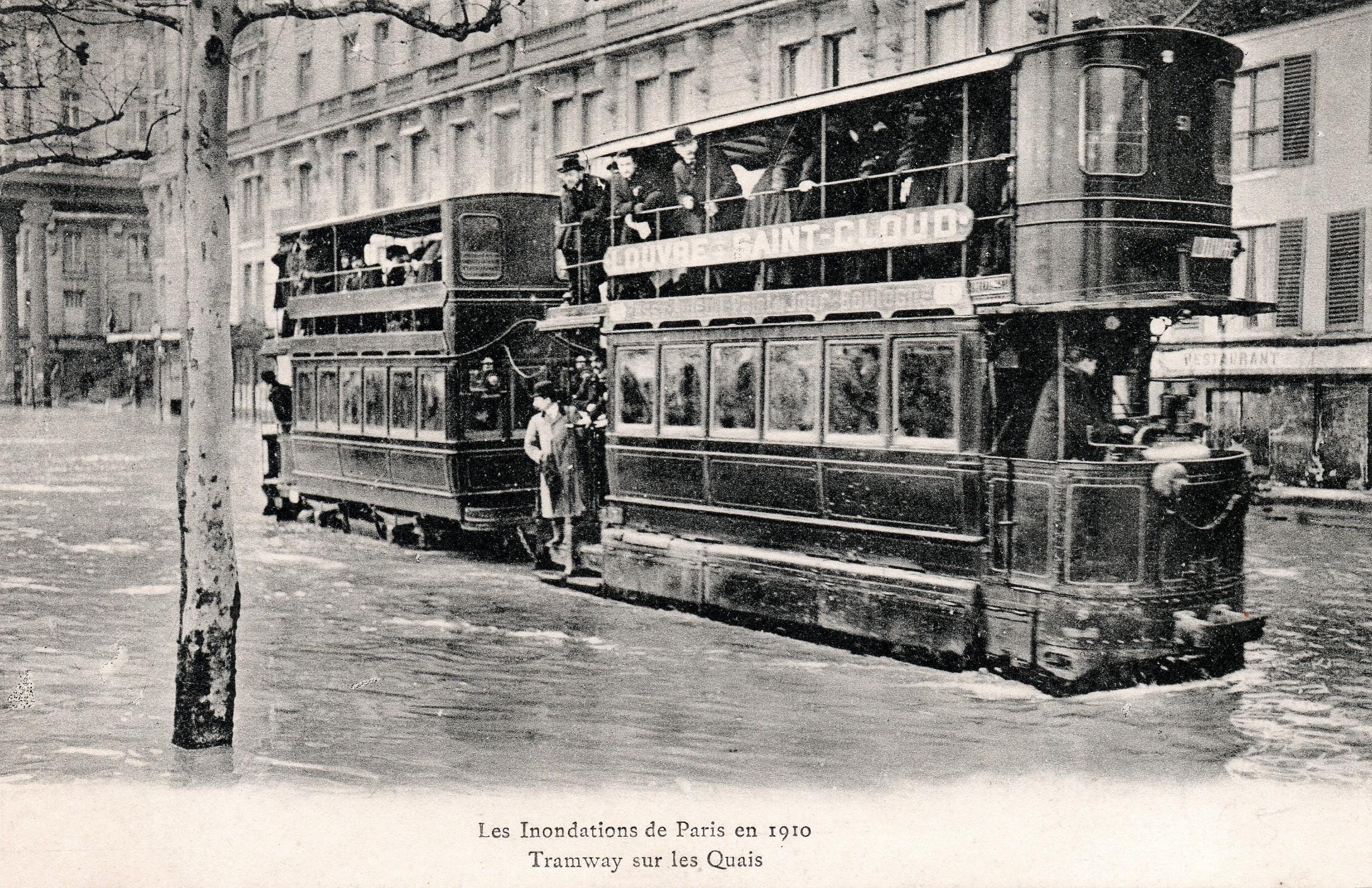 1910, grande crue à Paris, les services publics