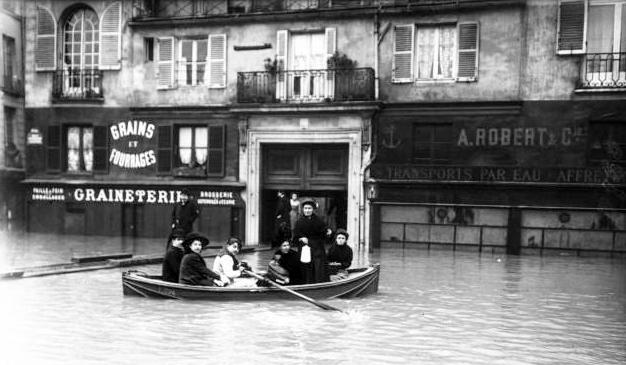1910, grande crue de Paris, l'alimentation