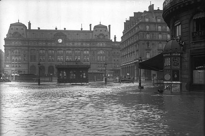 1910, grande crue à Paris, les chemins de fer