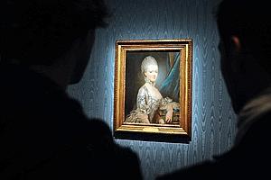 Marie-Antoinette n'est représentée que par «des illustrations caricaturales» de l'époque, tantôt vile, tantôt stupide, étrangère ou frivole. Il n'est quasiment jamais question de sa fonction royale.