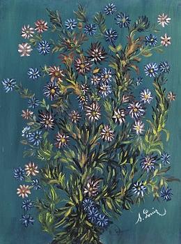 Fleurs des champs de Séraphine de Senlis est estimée entre100.000 et 120.000 €. (Tajan)