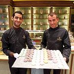 Autre spécialité de la Pistacherie, les glaces enrobées de pâte de riz aux différents parfums dont... la pistache.