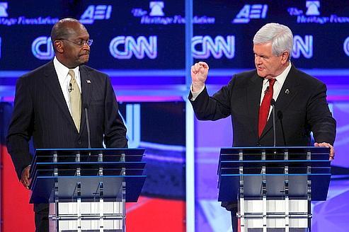 Gingrich efface Cain et menace Romney