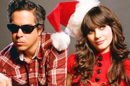 Zooey Deschanel et M.Ward du duo She and Him. ©DR
