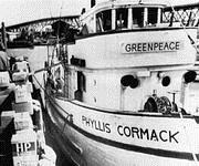 Le comité des Stowe prendra le nom du bateau, Greenpeace.