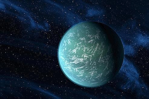 Vue d'artiste de la planète Kepler 22b. (crédits photo : Nasa)