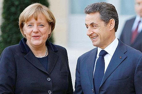 Angela Merkel et Nicolas Sarkozy, le 5 décembre à Paris.