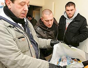 Cité du Gros-Saule, à Aulnay-sous-Bois. La BAC et les policiers ont saisi 20 kg de drogue, 20.000 € en liquide et des armes. (Jean-Pierre Rey)