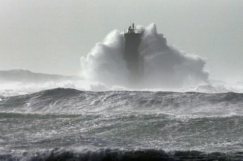 La pointe de Penmarc'h (notre photo) dans le Finistère sera touchée dès vendredi soir par des vents de140 km/h.