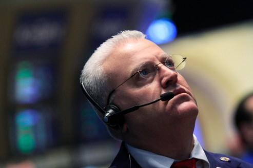 L'inquiétude est visible sur le visages des opérateurs boursiers