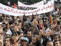 Une foule compacte s'est rassemblée à Sidi Bouzid.
