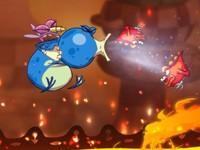 Le jeu inclut des passages de shoot'em up à dos de moustique.