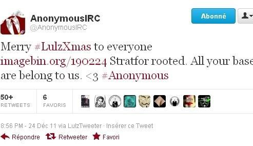 Pour Noël, Anonymous piège un cabinet de renseignement