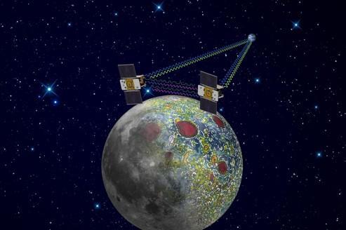 Les deux petites sondes jumelles sont chargées de dévoiler ce qui se cache sous la surface de la lune.