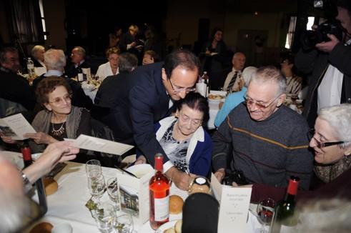 François Hollande, ce samedi, à Tulle.