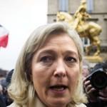 Marine Le Pen, samedi matin à Paris