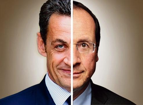 L'écart se réduit entre Nicolas Sarkozy et François Hollande : 2 petits points séparent désormais les deux hommes au premier tour.