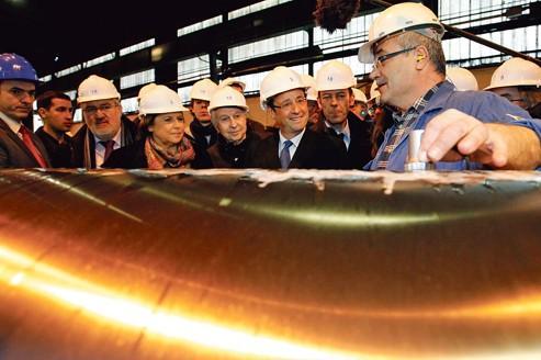 Gandrange: Hollande et Aubry font campagne commune