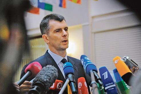 Face à Poutine, l'oligarque Prokhorov cherche ses voix