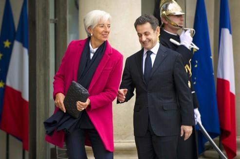 Christine Lagarde, directrice générale du FMI, et Nicolas Sarkozy.