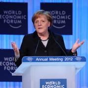 Zone euro : à Davos, Merkel ne promet rien