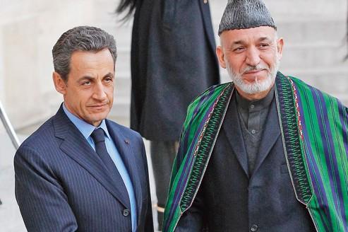 Sarkozy fixe à 2013 leretrait d'Afghanistan
