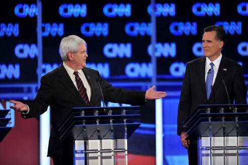 Le débat républicain a tourné jeudi au duel entre les deux favoris de la course, Mitt Romney et Newt Gingrich.