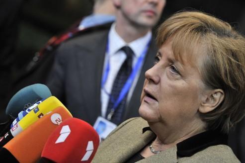 La chancelière allemande Angela Merkel, à Bruxelles.